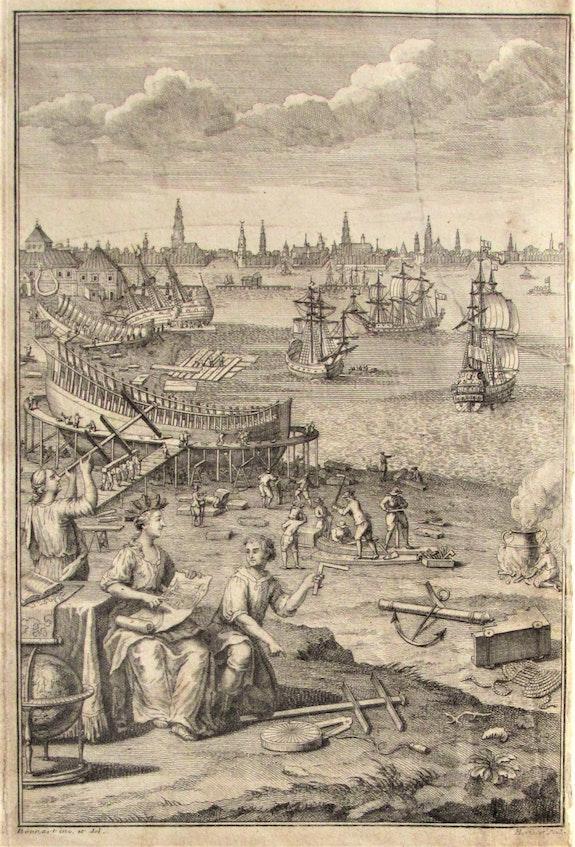 Antoine Hérisset, 1685-1769, d'après Nicolas ou Robert Bonnart : Chantier naval. Antoine Hérisset, 1685-1769, d'après Nicolas Ou Robert Bonnart : Chantier Naval Historien d'art, Archéologue; Chercheur Free-L.