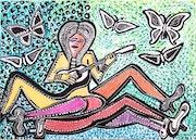 Pintor israeli visitas artisticas arte Israel para grupos. Mirit Ben-Nun
