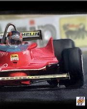 Dessin Gilles Villeneuve. P Fort