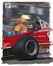 Dessin Gilles Villeneuve.