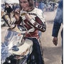 Dessin Barry Sheene pilote moto.