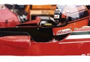 Dessin pilote f1 Gilles Villeneuve. P Fort