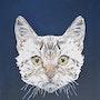 Tete de chat geometrique. Cats