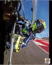 Dessin du pilote moto Valentino Rossi.