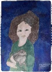 La poupée et son lapinou. Anne. B