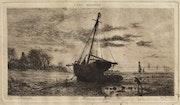 Louis Marie Faudacq (1840-1916) : Le mauvais temps.. Historien d'art, Archéologue; Chercheur Free-L.