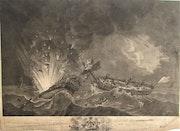 Franç. Dequevauviller, 1745-1807 d'après de Rossel, 1736-1804 : Combat naval. 1791. Historien d'art, Archéologue; Chercheur Free-L.