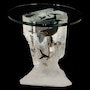 Silent Serenade Whale Sculpture End Table by Dan Medina.