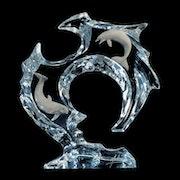 Flow Dolphin Sculpture by Dan Medina.