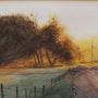 Coucher de soleil en automne. Claude Menge