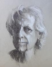 Autoportrait, 8 de la série «Main gauche». Dany Wattier