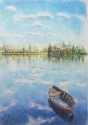 Le lac, 9 de la série «Main gauche».