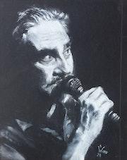 Portrait de Stephane Eicher, 14 de la série «Main gauche». Dany Wattier
