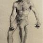 J. Jubert, élève aux Beaux-Arts : académie d'homme assis, 1993.. Historien d'art, Archéologue; Chercheur Free-L.
