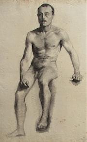 J. Jubert, élève aux Beaux-Arts : académie d'homme assis, 1993..