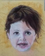 Portrait d'enfant, 16 de la série «Main gauche». Dany Wattier