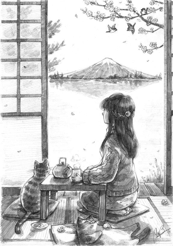 Fuji Mountain Tea Time. Kei Li Kei Li