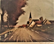 Louis (-Étienne) Dauphin (1885-1926) : «L'Église du Village».