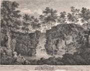 François Vivarès (1709-1780) : Cascade de Belton Park à Craven, Yorkshire, 1753. Historien d'art, Archéologue; Chercheur Free-L.