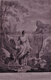 Nicolas-Joseph Voyez, 1742-1806, d'après F. Boucher, 1703-1770 : La jeune bergère..