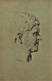 Anonyme : dessin d'après le profil sculpté d'un dignitaire antique.. Historien d'art, Archéologue; Chercheur Free-L.