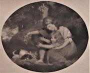 Anonyme : lithographie anglaise : L'Éducation dans la Nature.. Historien d'art, Archéologue; Chercheur Free-L.