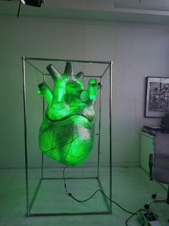 The Heart (green). Walery Martynchik Walery Martynchyk