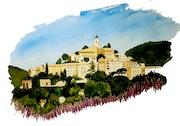Banon dans les Alpes de haute Provence. Claude Beretti