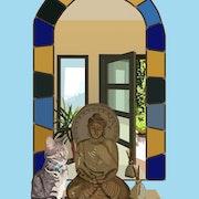 2020-06-30 Muse et Bouddha. Michel Normand