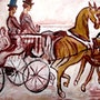 Horse chariot.
