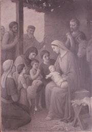 Étienne Azambre (1859-1933 ou 1935 ? ) : L'Adoration collective du Petit..