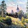 Church View - Plein air. Karine Andriasyan