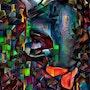 Pensées cubiques - 80x 65 cm. Léa Roche