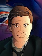 Portrait de George Clooney.