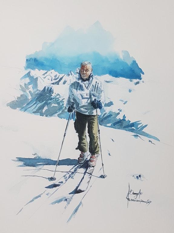 Skieur 2. Baldinotti Forangeart Forangeart F. Baldinotti Peintre De l'air