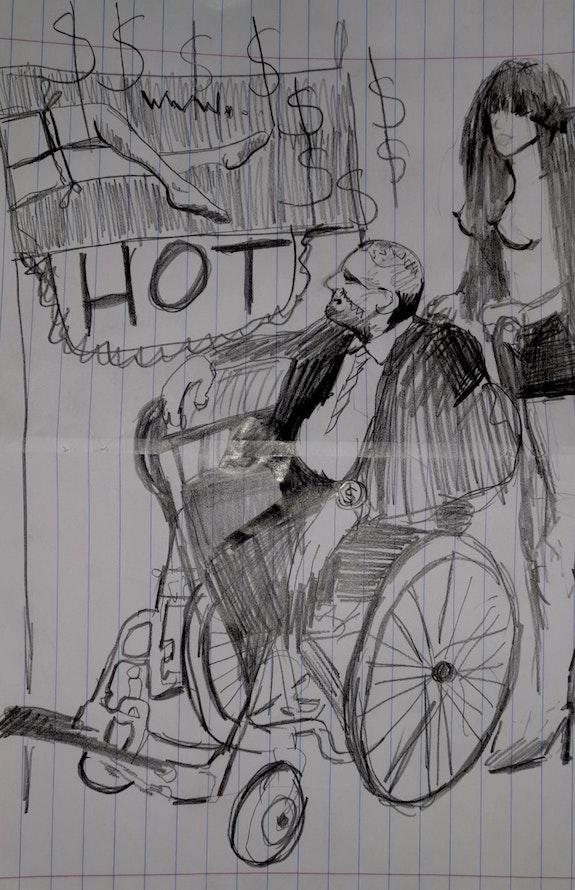 Portrait original d'un homme chauve. Wim Wim Art
