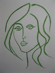 Jeune fille. Portrait. Michel Castanier