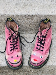Doc Martens customiser. Radmila Sally Stojkovic Burton