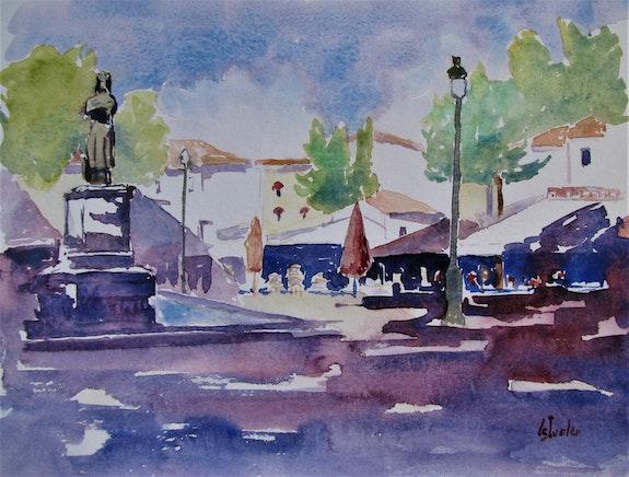 Aigues Mortes, place Saint-Louis. Jean-Noël Le Junter Jean Noel Le Junter