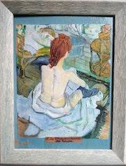 «La rousse» de Toulouse Lautrec.