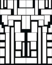 «Game» création numérique graphique en noir et blanc. Martina .d.