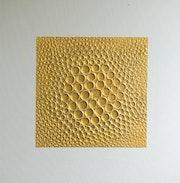 Abstrakt original gemälde 3d relief 50x50 cm gold. Brigitte Knoop