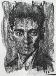 Portrait of Franz Kafka.