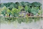 La Seine en été vers Samois.