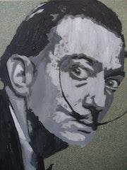 Tableau Salvador Dali 80 X 60 cm acrylique. Mediki