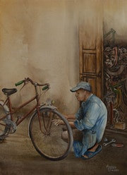 Réparateur vélo.