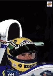 Ayrton Senna dessin. P Fort