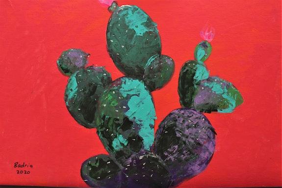 Bold colors/ Cactus.  Badria Shamsi
