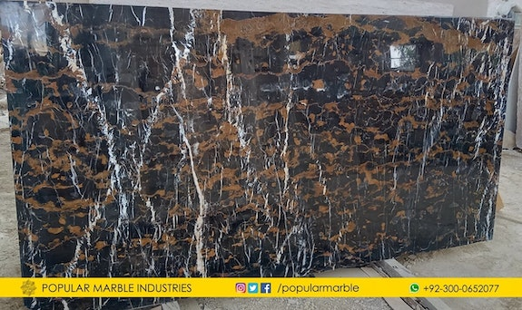Black and gold marble from Pakistan.  Ahmed Sami