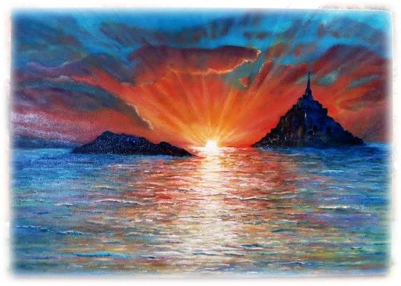 Mont St michel et le rocher de Tombelaine. Jean Michel Coriou Jean Michel Coriou